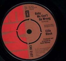 "Cilla Black(7"" Vinyl)Baby We Can't Go Wrong / Someone-EMI-EMI 2107-UK-1-VG/VG"