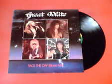 "Excelente Blanco afrontar el día (Blues Mix) 12"" Vinilo Quiet Riot garantiza Skid Row!"