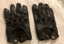 Coach Mens Leather Driving Gloves  Dk Brown Med