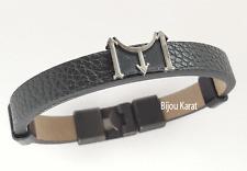 Kayi Boyu Dirilis Erkek Bileklik Herren Leder Armband Selcuklu Schwarz Silber