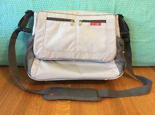 """Skip Hop """"Via Messenger"""" Diaper Bag Grey w/ Shoulder Strap Changing Pad Pockets"""