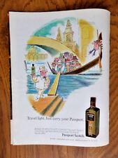 1972 Passport Scotch Whiskey Ad  Illustrated artwork by Taffee