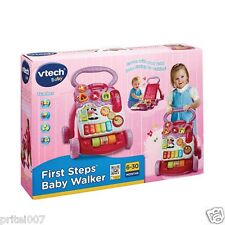 NEW * VTech First Steps Infant Baby Learning Walker (Pink) Anti Roll over
