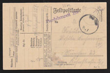Germany 1918 Field Post Printed Stationery Postcard Cover Feld-Post 8.1 Karte