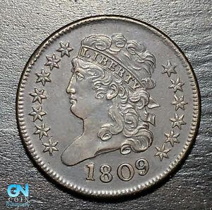1809 Classic Head Half Cent --  MAKE US AN OFFER! #K3822