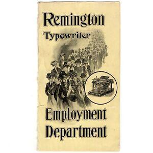 1901 Remington Typewriter Ephemera Vtg Graphic Letterhead Antique Advertising