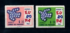 [72466] Paraguay 1961 Birds United Europe Airmail Stamps MNH
