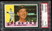 1960 Topps Baseball #23 EDDIE FISHER San Francisco Giants PSA 8 NM-MT