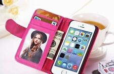 Pink PU Leather Wallet Case Book Cover APPLE iPhone 5s and FREE SCREEN PROTECTOR