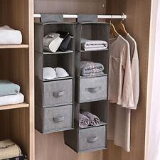 Wardrobe Hanging Storage Boxes DIY Clothes Shoes Hanger Organizer Shelf Rack AU