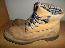 Timberland Men's Size 11.5 Leather Work Boots - Woolrich Lining - Fast Shipping