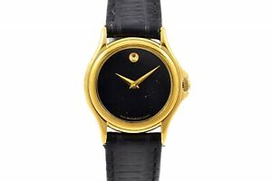 Vintage Movado Gold Plated Ladies Dress Quartz Watch 598