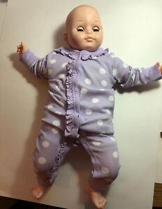 22 inch cloth body baby doll open close eyes. Vintage. Baby Jesus prop?