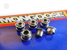 MONGOOSE BMX Chainring Chainwheel Bolts Vintage 90s BMX Bicycle Parts Set of 5