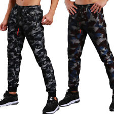 NEW Mens Camouflage Slim Fit Casual Pants Baggy Jogger Sweatpants Camo Trousers