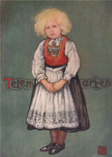 TELEMARK. 'Little girl' by Nico Jungman. Norway 1905 old antique print picture