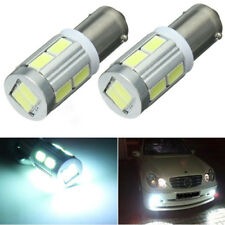 2x Universal BA9S H6W 10SMD LED Side Light Bulb Canbus No Error Cool White