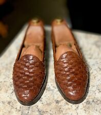 Bragano By Cole Haan Classic Low Cut Woven Loafer Toasty Brown Weave 11 M