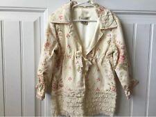 $248 EDEN'S BOUQUET SIZE 4T PINK Romantic FLORAL SILK JACKET Girl Boutique