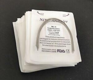 100 Packs Rectangular Niti Super Elastic Arch Wires Ovoid Form Orthodontics Bows