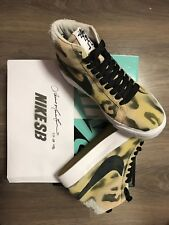 Stussy X Nike SB Blazer Mid Uk 6/us 7 - Hand Painted By Lance Mountain No.20