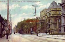 MONTREAL QUEBEC CANADA NOTRE DAME ST. EAST SHOWING COURTHOUSE 1907