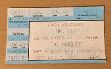 1991 MR. BIG NEW YORK CITY CONCERT TICKET STUB LEAN INTO IT TO  BE WITH YOU