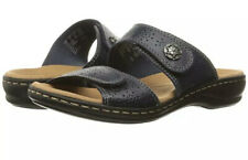 Clarks Collection Leisa Lacole Sandals Slides Black Leather Women Size 11W NEW