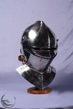 Medieval Knight Armor Closed Helmet Halloween Costume Replica Reenactment Gift