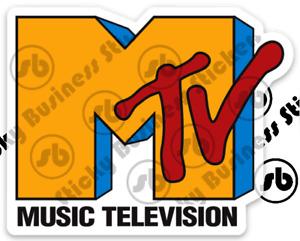 Glossy MTV Vintage Retro Logo 3 inch Vinyl Sticker weatherproof laptop bottle