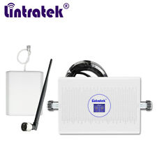 Neue Lintratek 1800 2100 MHz Dual-Band-Repeater B1 B3 32 Fuß Handy-Booster 3G 4G
