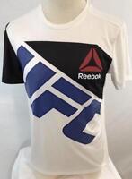 New Reebok Men's UFC Combat Fight Jersey Size 2XL White Black Blue