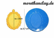 Mini Silikonform - Ornament Rahmen für Bilder Medaillons - Modelliermasse Gips
