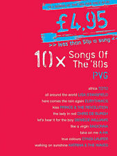 10 Songs Of The Eighties '80s Sheet Music Book Piano Voice Chords Songbook B46