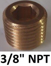 "BOSS 3/8"" NPT brass bung stopper plug for air compressor & tank"