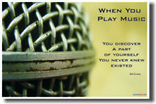 When you play music - Music Microphone Vocal NEW POSTER