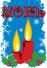 "28""x40"" Noel Garden Flag Christmas Happy Holidays Festive Banner Candles New 2X3"