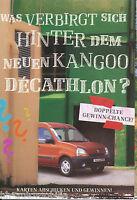 Renault Kangoo Décathlon Prospekt 3 99 brochure 1999 Auto PKWs Autoprospekt