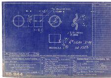 Vintage 1931 Connecticut Tel & electric company   Blue print.