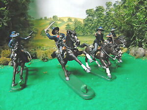 HAND PAINTED MOUNTED U.S. CAVALRY