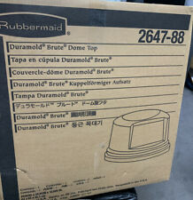 Rubbermaid Round Brute Dome Top Receptacle (Gray) 264788GRA NEW