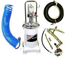 Fettpresse pneumatisch Druckluft Abschmierpresse fahrbar 15-16L+ Druckluftschlau