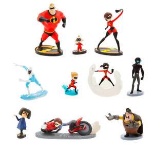 Disney Incredibles 2 Figure Figurine Set PVC Mr. Incredible Elastigirl Violet
