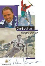 Autographe Christian Neureuther ski alpine original signé père de Felix