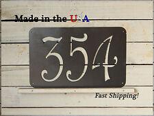 Large Rectangular House Number Sign, Folk Art Address Plaque  HN1043