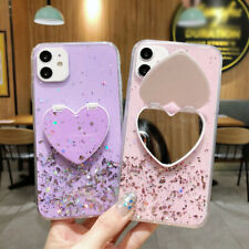 Bling Glitter Case For iPhone 12 11 Pro Max XR XS X 8 7 Plus Stand Holder Cover
