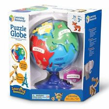 Kids Plastic Globe Puzzle 14Pc Toy Activity Toddler Play Set Geography Learning