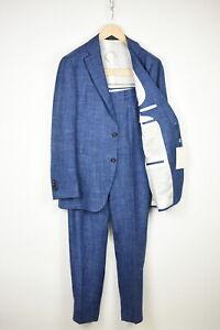 RRP$599 SUITSUPPLY HAVANA PATCH Men UK42R Wool Silk Linen 2-Pieces Suit 15416