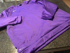 NWT - Mens NIKE Purple THERMA DRI-FIT Sweatshirt (4XL)