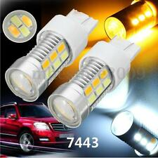 2x Dual Color Switchback 7443 7440 Amber White 22LED Bulbs Turn Signal Light
